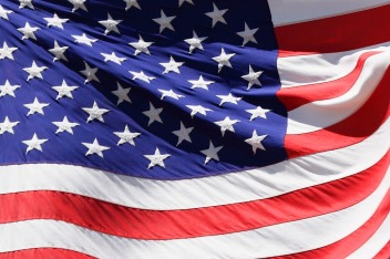 Detail Of American Flag by Petr Kratochvil