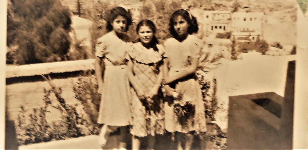 left to right Mother, Lily, Nadia 1948